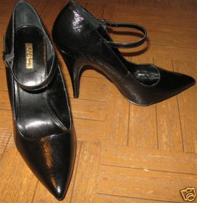 Primary image for WOMEN'S DESIGNER SHOES, BLACK SIZE 8 1/2 B, NEW IN BOX
