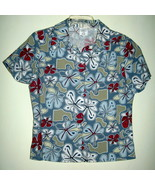 YOUNG LADIES HAWAIIAN SURF SHIRT, NEW, NEVER WORN, SIZE MEDIUM, SHORT SL... - $9.99