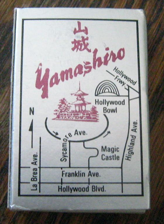 Yamashiro Restaurant in Hollywood Hills, California Vintage Matchbox UNUSED