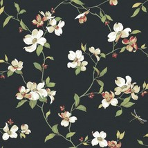 Dogwood Tree Floral Blooms Wallpaper Ashford House York Wallcoverings GE... - $44.54