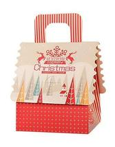 10 Pcs Christmas Apple Gift Packaging Boxes, Beige Portable Striped Elk ... - $20.94