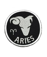 """Aries Zodiac Embroidered Iron On Patch 2.9"""" Choose Hook & Loop or Iron On - $5.87+"""