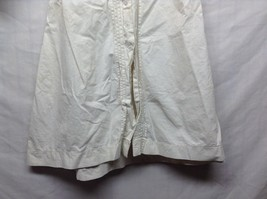 Vintage Off White Linen Button Up Baby Dress  image 2