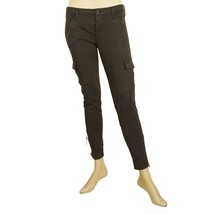 True NYC Womens Gray cargo Slim trousers pants multi pockets zippers sz 25 - $69.51