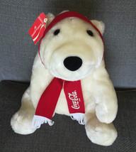 1993 Coca Cola Super Soft Plush White Polar Bear w/ Tag Excellent Stuffed Animal - $25.00