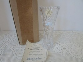 "VTG LENOX CRYSTAL STAR BUD VASE 6"" NEW IN BOX WITH CERTIFICATE - $9.85"