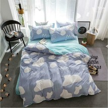 3D White Cloud Simple Blue KEP7176 Bed Pillowcases Quilt Duvet Cover Kay - $66.96+