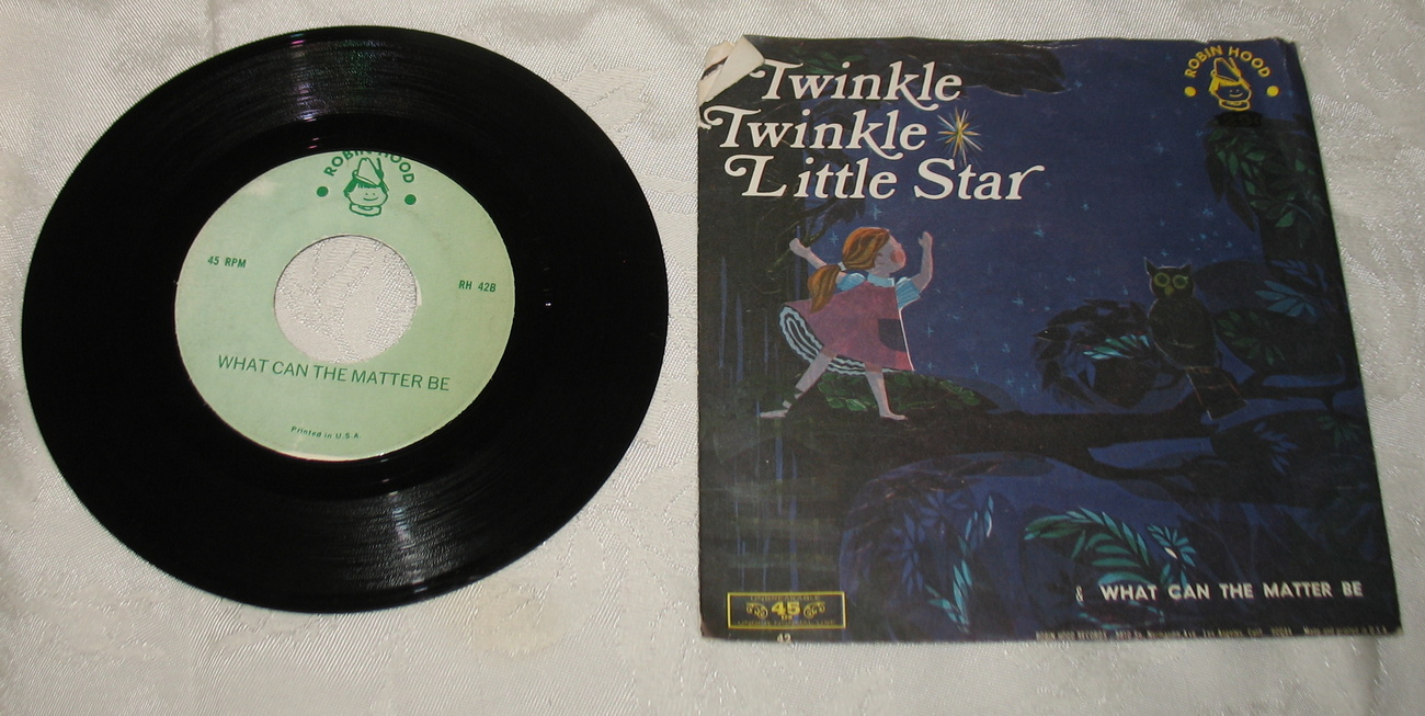 Twinkle Twinkle Little Star/What Can the Matter Be 45 LP Robin Hood Records