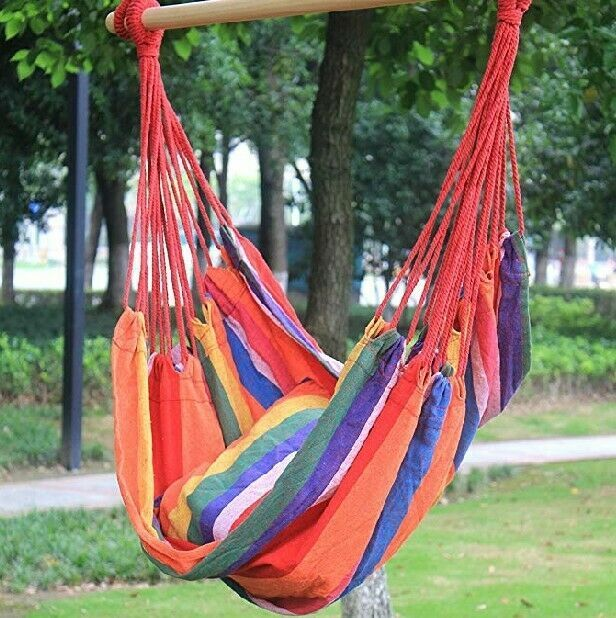 Red Striped Hammock Chair