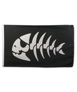 "Large Jolly Pirate Fish Flag - 36"" x 60"" (91cm x 152cm) - $38.95"