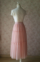 BLUSH Tiered Midi Skirt Blush High Waisted Tiered Tulle Skirt Plus Size image 5