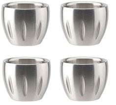 Citta Stainless Steel Shot Glasses Coffee Measuring Cup Soju Glass 50m 1.5oz 4-C