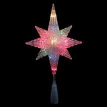 "Northlight 11"" Clear Star of Bethlehem Christmas Tree Topper Multi-Color... - $17.81"