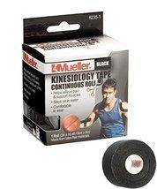 Mueller Sports Medicine Kinesiology Tape, Black, 2 Inches X 16.4 Feet Roll - $11.99