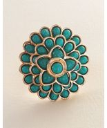 AMRITA SINGH Hampton Carnation Cocktail Ring Tu... - $38.29