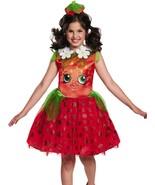 Girls Shopkins Strawberry Kiss Halloween Costume Dress & Headband - $16.82