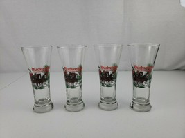 1991 Classic Budweiser Clydesdales Lot of 4 Holiday Tall 12oz Drinking Glasses - $25.00