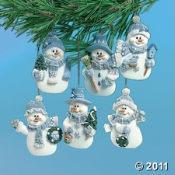 Blue Snowman Ornaments