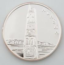 ALASKA MINT TOTEM POLE MEDALLION 1 OZ .999 SILVER ROUND W/ BOX - $85.23