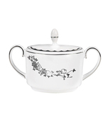 VERA WANG Wedgwood Fleurs Covered Sugar Bowl Bo... - $29.99