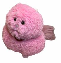 RARE HTF Animal Adventure Pink Cat Pink Red Heart Stuffed Plush Shaggy T... - $59.00