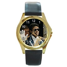 Unisex Round Gold Tone Metal Watch Michael Jackson Gift model - $15.99