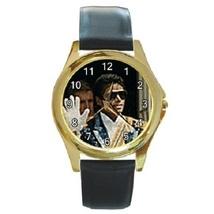 Unisex Round Gold Tone Metal Watch Michael Jackson Gift model - £11.68 GBP