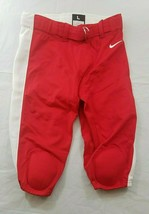 Nike Mens Knee Padded Football Pants Red White Striped Large Msrp $85.00 - $38.96