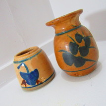 Shamrock Imprinted Vase and Apothecary Stoneware - $45.00