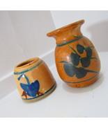 Shamrock Imprinted Vase and Apothecary Stoneware - $45.00