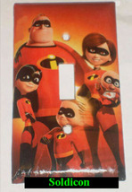 The Incredibles Family Light Switch Outlet duplex wall Cover Plate Home Decor