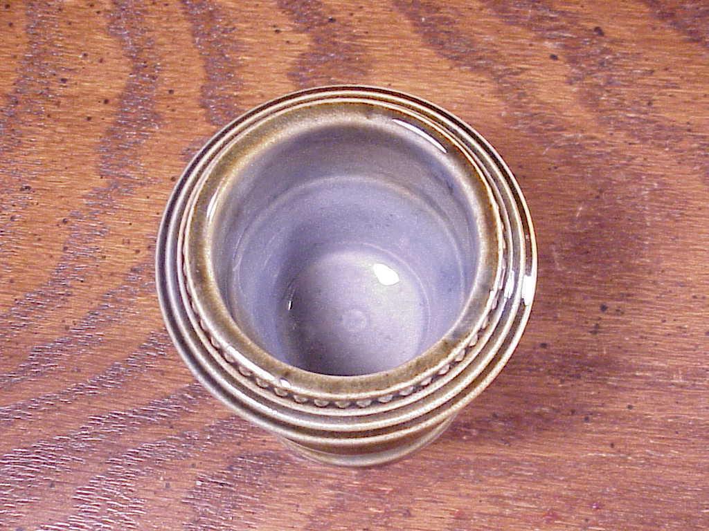 Small Irish Porcelain Blue Green Vase,.Made in Ireland, marked Shamrock H