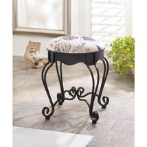 Paris Themed Iron Decorative Stool Available in Two Colors - $99.95