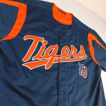 Detroit Tigers Blue Jersey True Fan Sz L 42-44 MLB - $26.99