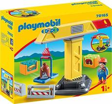 Playmobil 1.2.3 Construction Crane - $34.99
