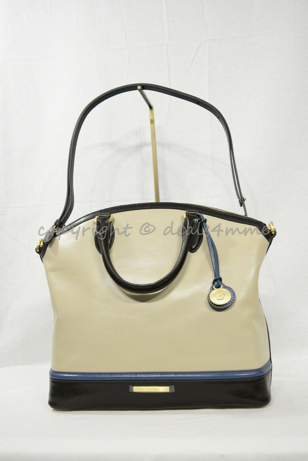 NWT Brahmin Large Duxbury Smooth Leather Satchel/Shoulder Bag in Sand Westport image 2
