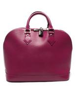 Auth Louis Vuitton Alma EPI Handbag Purple Zipper Inner Pockets LVB0599 - $1,215.72