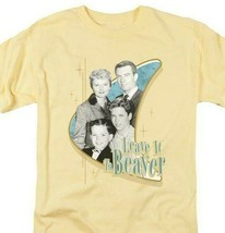 Leave it to Beaver T-shirt retro 60s classic TV graphic printed NBC575 Yellow  image 1