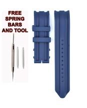 Nautica A14602G 22mm Blue Rubber Watch Strap Band NTC120 - $28.71