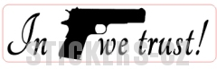 IN COLT WE TRUST sticker (different silhouettes possible!)
