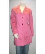 Anne klein pink trench coat thumbtall