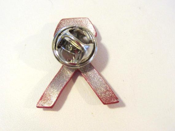 Breast Cancer Awareness Red Bow Ribbon Lapel pin/brooch