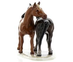 """Hagen-Renaker Specialties Ceramic Horse Figurine """"Best Friends"""" Grooming Horses image 6"""