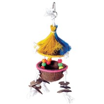 Prevue Pet  Tiki Hut Tropical Teasers Bird Toy 5x14 In - £16.04 GBP