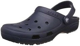 CROCS COAST CLOGS Navy Sandals Women 6B, Men 4D, EUR 36-37, Iconic Comfort  - $25.00