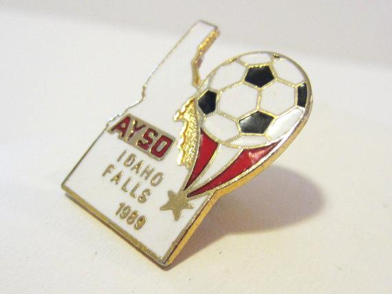 Vintage jewelry goldtone Idaho enamel pin/brooch