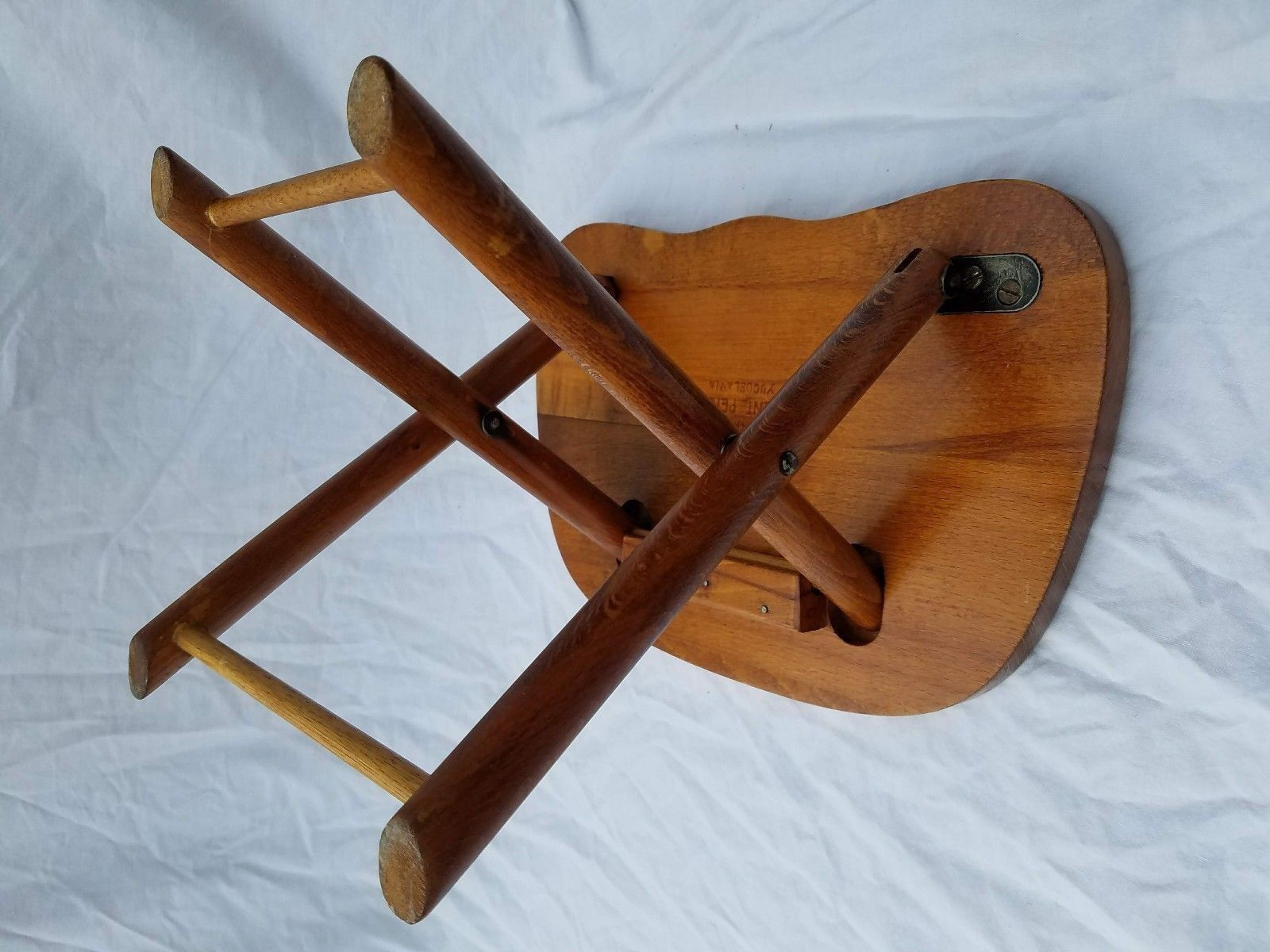 Astounding Vintage Nevco Wood Stool Fold And Foldn And 50 Similar Items Onthecornerstone Fun Painted Chair Ideas Images Onthecornerstoneorg