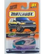 Matchbox 1998 Science Fiction Series 13 #61 UFO Space Ship Purple Mattel... - $10.95