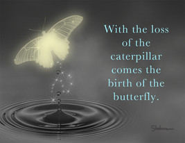 Birth Of A Butterfly: Spiritual Sympathy Greeting Card With Butterfly - $5.00