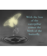 Birth Of A Butterfly: Spiritual Sympathy Greeting Card With Butterfly - $4.25